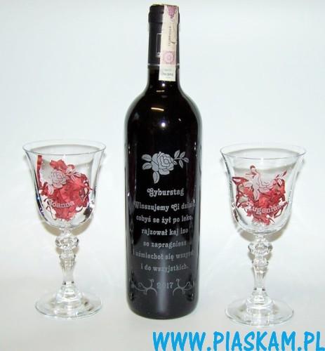 Wspaniały Grawer na butelce wina – Piaskam JV75